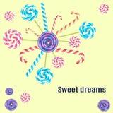 Γλυκά όνειρα, lollipop Στοκ φωτογραφία με δικαίωμα ελεύθερης χρήσης