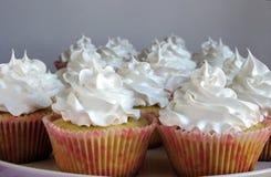 Γλυκά cupcakes με την κρέμα Στοκ εικόνα με δικαίωμα ελεύθερης χρήσης