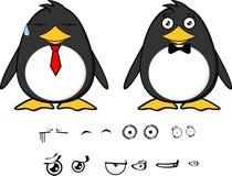 Γλυκές εκφράσεις λίγων penguin κινούμενων σχεδίων μωρών set1 ελεύθερη απεικόνιση δικαιώματος