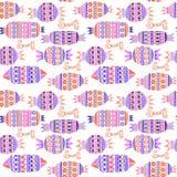 Γλυκές καραμέλες καθορισμένες Ζωηρόχρωμο διανυσματικό άνευ ραφής σχέδιο Στοκ Εικόνες