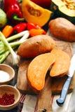 Γλυκές πατάτες και λαχανικά φθινοπώρου Στοκ Εικόνα