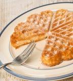 Γλυκιά βάφλα σε ένα πιάτο Στοκ Εικόνα