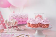 Γλυκιά γωνία μιας γιορτής γενεθλίων Στοκ Εικόνες