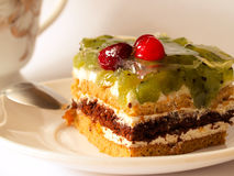 Γλυκιά ζελατίνα μούρων πιτών προγευμάτων Στοκ φωτογραφία με δικαίωμα ελεύθερης χρήσης