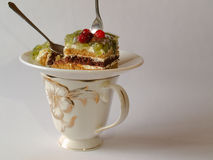 Γλυκιά ζελατίνα μούρων πιτών προγευμάτων Στοκ εικόνες με δικαίωμα ελεύθερης χρήσης