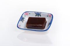 Γλυκιά ζελατίνα φασολιών στο μικρό πιάτο Στοκ Εικόνες