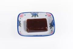 Γλυκιά ζελατίνα φασολιών στο μικρό πιάτο Στοκ εικόνα με δικαίωμα ελεύθερης χρήσης