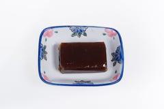 Γλυκιά ζελατίνα φασολιών στο μικρό πιάτο Στοκ φωτογραφία με δικαίωμα ελεύθερης χρήσης