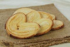 Γλυκιά ζύμη ριπών Palmier Palmera Στοκ φωτογραφίες με δικαίωμα ελεύθερης χρήσης