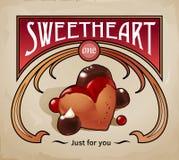 Γλυκιά διανυσματική απεικόνιση επιδορπίων του μπισκότου Στοκ εικόνες με δικαίωμα ελεύθερης χρήσης