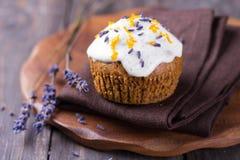 Γλυκιά κολοκύθα cupcake Στοκ Εικόνες