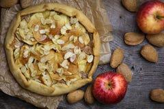 Γλυκιά πίτα επιδορπίων κέικ της Apple Galette Crostata Στοκ Εικόνες