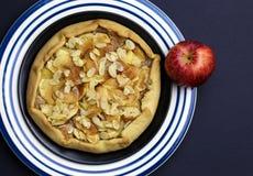 Γλυκιά πίτα επιδορπίων κέικ της Apple Galette Crostata Στοκ Φωτογραφία
