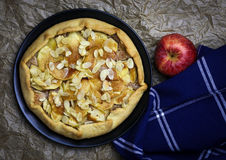 Γλυκιά πίτα επιδορπίων κέικ της Apple Galette Crostata Στοκ φωτογραφίες με δικαίωμα ελεύθερης χρήσης
