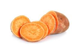 Γλυκιά πατάτα που απομονώνεται στο άσπρο υπόβαθρο Στοκ Εικόνες