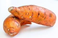 Γλυκιά πατάτα στο άσπρο ελαφρύ υπόβαθρο στοκ φωτογραφία με δικαίωμα ελεύθερης χρήσης