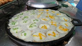 Γλυκιά ταϊλανδική τηγανίτα καρύδων Στοκ φωτογραφία με δικαίωμα ελεύθερης χρήσης