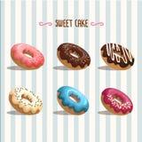 Γλυκιά doughnut απεικόνιση Διανυσματική απεικόνιση