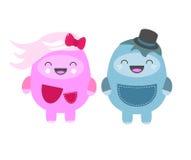 Γλυκοί χαρακτήρες Στοκ Εικόνα