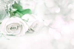Γλυκός αυξήθηκε λουλούδια για το ρωμανικό υπόβαθρο αγάπης Στοκ Φωτογραφίες