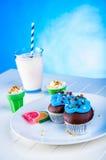 Γλυκός κόσμος καραμελών, muffins Στοκ φωτογραφία με δικαίωμα ελεύθερης χρήσης