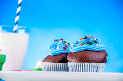 Γλυκός κόσμος καραμελών, muffins Στοκ Εικόνες