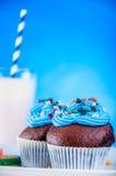 Γλυκός κόσμος καραμελών, muffins Στοκ εικόνες με δικαίωμα ελεύθερης χρήσης