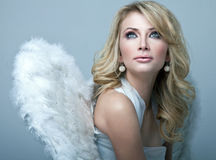 Γλυκός ξανθός άγγελος Στοκ φωτογραφία με δικαίωμα ελεύθερης χρήσης