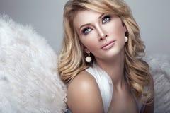 Γλυκός ξανθός άγγελος Στοκ εικόνες με δικαίωμα ελεύθερης χρήσης