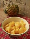 Γλυκός σαρκώδης δίσκος φρούτων ανανά στοκ εικόνα με δικαίωμα ελεύθερης χρήσης