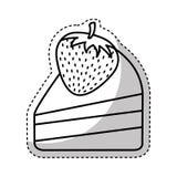 Γλυκό απομονωμένο μερίδα εικονίδιο κέικ απεικόνιση αποθεμάτων