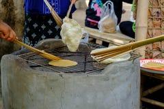 Γλυκό γούστο πρόχειρων φαγητών κροτίδων ικτίνων της Ταϊλάνδης Μαγειρευμένος με το ψήσιμο στη σχάρα, Στοκ Εικόνες