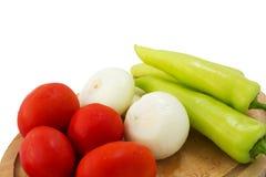 γλυκό επάνω λευκό πιπεριών ανασκόπησης στενό Στοκ Εικόνες