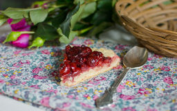 γλυκό επιδορπίων κερασ&iota Στοκ φωτογραφία με δικαίωμα ελεύθερης χρήσης