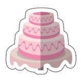 γλυκό επιδόρπιο γαμήλιων κέικ στοκ φωτογραφίες με δικαίωμα ελεύθερης χρήσης