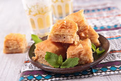 Γλυκό επιδόρπιο baklava στοκ εικόνες