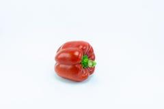 γλυκό λευκό πιπεριών ανασκόπησης απομονωμένο κουδούνι Στοκ Εικόνες