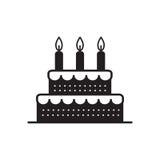 Γλυκό κέικ για τις διακοπές γενεθλίων διάνυσμα εικονιδίων εργαλείων Στοκ Εικόνες
