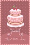 Γλυκό κέικ. Διανυσματική απεικόνιση για το κείμενο Στοκ Εικόνες