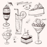 Γλυκό κέικ παγωτού λεμονάδας διανυσματική απεικόνιση