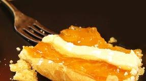 Γλυκό κέικ ρουμιού στα ιταλικά εστιατόριο Στοκ φωτογραφία με δικαίωμα ελεύθερης χρήσης