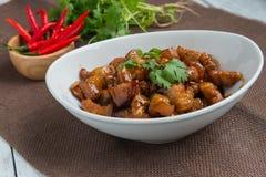 Γλυκό καρύκευμα χοιρινού κρέατος (το ταϊλανδικό όνομα είναι muu waan) Στοκ εικόνα με δικαίωμα ελεύθερης χρήσης