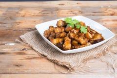 Γλυκό καρύκευμα χοιρινού κρέατος (το ταϊλανδικό όνομα είναι muu waan) Στοκ εικόνες με δικαίωμα ελεύθερης χρήσης