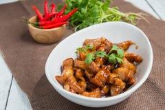 Γλυκό καρύκευμα χοιρινού κρέατος (το ταϊλανδικό όνομα είναι muu waan) Στοκ φωτογραφίες με δικαίωμα ελεύθερης χρήσης