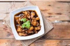 Γλυκό καρύκευμα χοιρινού κρέατος (το ταϊλανδικό όνομα είναι muu waan) Στοκ Εικόνες