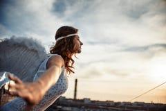Γλυκό κορίτσι αγγέλου Στοκ φωτογραφία με δικαίωμα ελεύθερης χρήσης