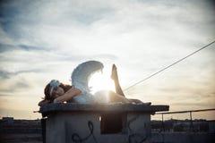 Γλυκό κορίτσι αγγέλου Στοκ εικόνες με δικαίωμα ελεύθερης χρήσης