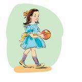Γλυκό κορίτσι με τη σφαίρα Στοκ εικόνες με δικαίωμα ελεύθερης χρήσης