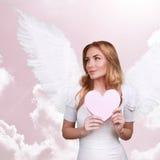 Γλυκό κορίτσι cupid Στοκ Φωτογραφίες
