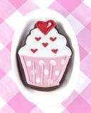 Γλυκό μπισκότο cupcake Στοκ Εικόνες